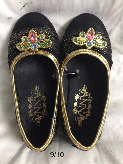 Zapatos Princesa Frozen Anna Talle 24-26