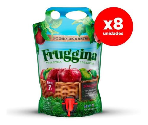 Jugo Concentrado De Manzana Fruggina. Pack 8 X 1 Lt