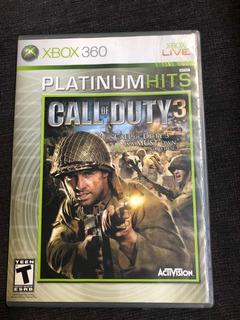 Juego Call Of Duty 3 Platón Un Hits Xbox 360 Live