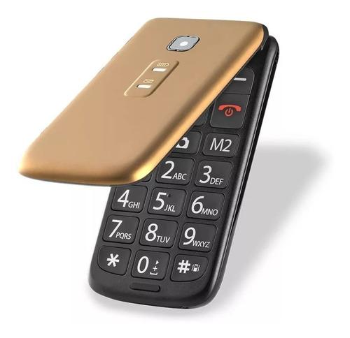 Celular Flip Vita Dourado Dual Chip P9043 Multilaser