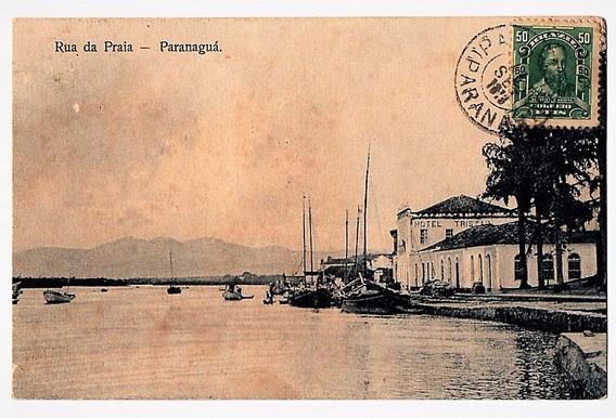 Cartao Postal Paranaguá - Rua Da Praia - 1913