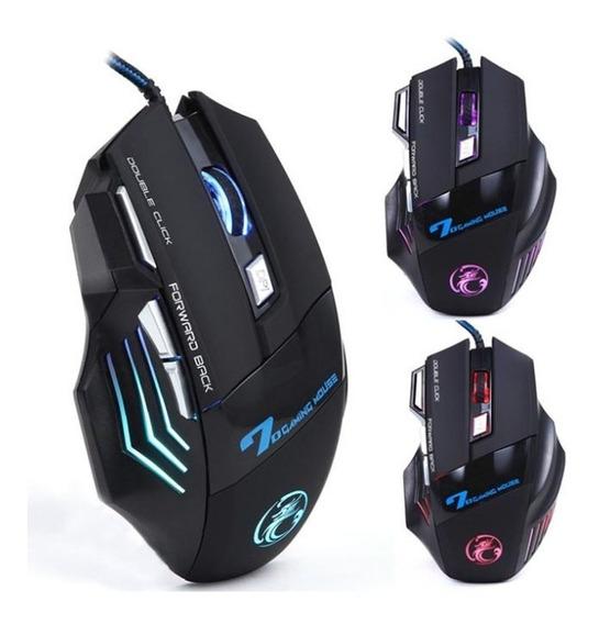 Mouse Gamer Profissional 7 Botões 4 Tipos Dpi Luminoso X7