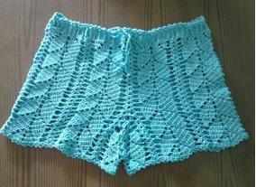 Shorts E Saia Saida De Praia De Croche