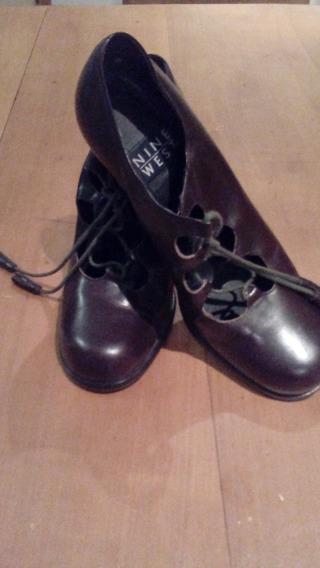 Zapatos Abotinados De Cuero