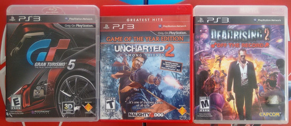 Kit Ps3 Gran Turismo 5+ Uncharted 2+ Dead Rising 2