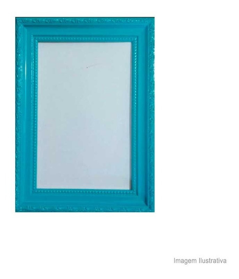 Porta Retrato 13x18cm Queem Azul Turquesa Brilhante Infinity Infinity