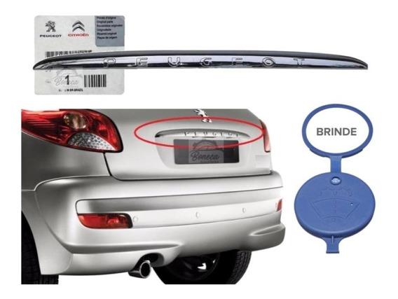 Friso Aplique Cromado Tampa Traseira Peugeot 206 207 Hatch
