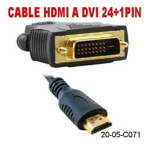 Cable Dvi A Hdmi (24+1) Full Hd 1080p Ps3 Xbox Pc Tv 1.8m
