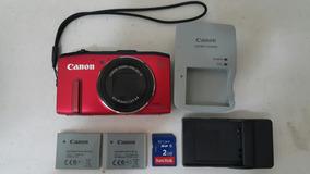 Câmera Canon Sx280 Hs Gps Vermelha 20x Zoom Ótico 80x Total