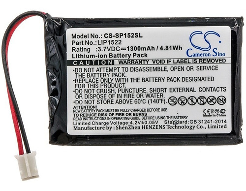 Batería P/ Control Ps4 Dualshock 4 Cs-sp152sl 1300mah 3.7v