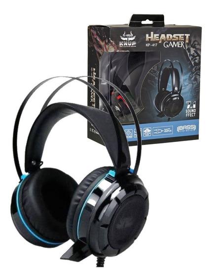 Acessórios Para Games Headset 7.1-kp 417 Pc Ps4 Xbox Brinde