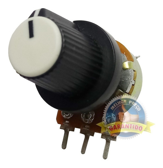 Potenciômetro 10k Linear + Knob P/ Inversor Frequencia Weg