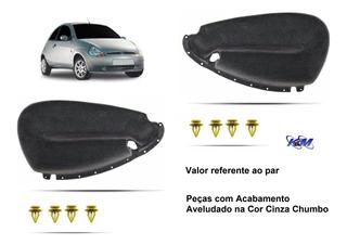 Par Forro Porta Ford Ka Revestido Cinza Chumbo Anos 97 A 07
