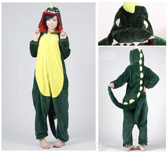 Pijama Kigurumi Fantasia Dinossauro Verde Preco Promocional