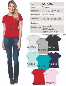 1676a89320 Kit Camisa T-shirt Feminina Lisa Confort - 60380 (3 Peças)