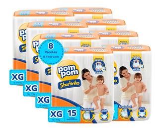 Kit Pom Pom Shortinho Jumbinho Xg 120 Unidades