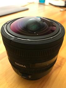 Sigma 10mm 2.8 (canon) Fisheye Olho De Peixe Hsm