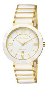 Relógio Feminino Technos Ceramic 2015ce/4b Dour/branco 34mm