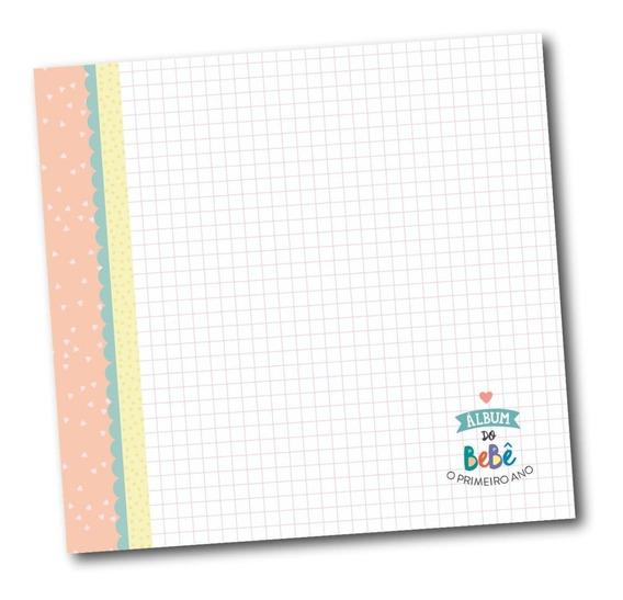 Livro Álbum De Fotos Do Bebê Rosa Amarelo Ou Azul - Coloré