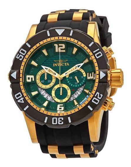 Relógio Invicta Pro Diver Cronógrafo Verde- 23703
