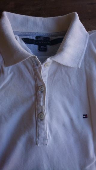 Chomba Remera Tommy Original T 38 Xs Blanca