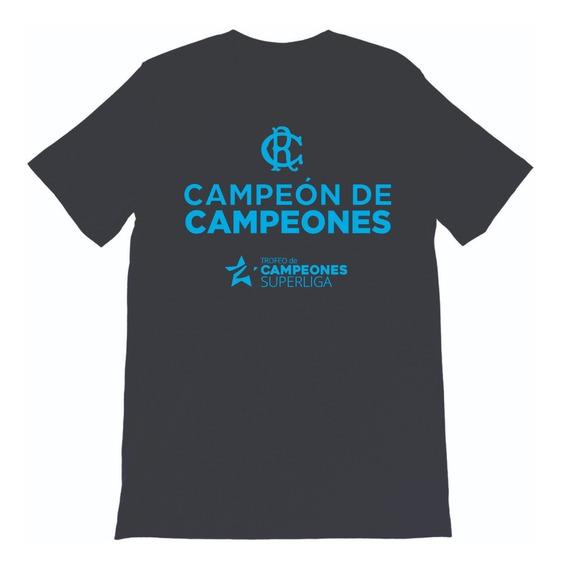 Remera Racing Club Campeon De Campeones Copa Superliga