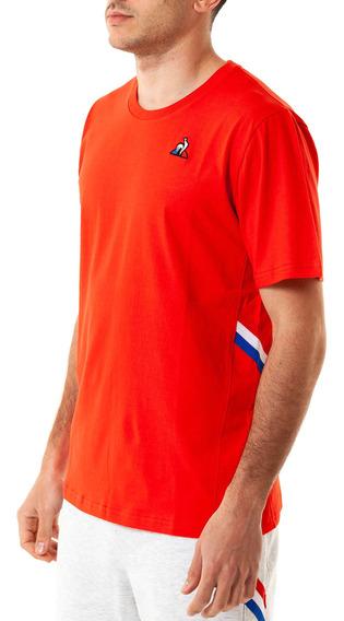 Remera Ess Stripe Tee Rojo Hombre Le Coq Sportif