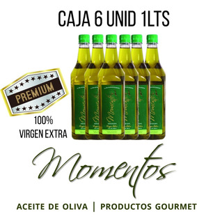 Aceite De Oliva Virgen Extra Momentos 6 Botellas X 1lts