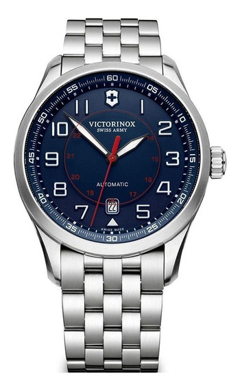 Relógio Victorinox 241793 Airboss Mechanical Prata Original