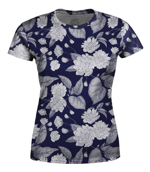 Camiseta Baby Look Feminina Flor Da Ameixa Chinesa