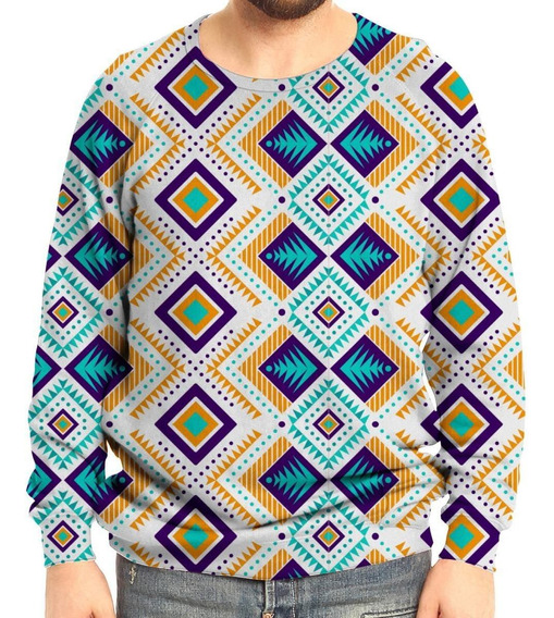 Moletom Raglan Unissex Tribal Asteca