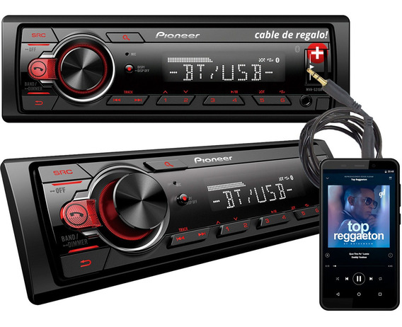 Estereo Pioneer 215 Bluetooth Instalacion Gratis + Cable Aux