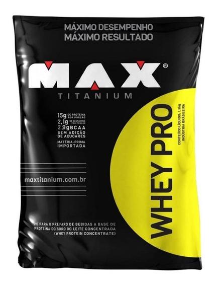 Whey Pro Refil (1,5kg) Max Titanium
