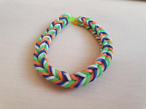 Pulseira Elastico 20 - Rainbow Loom 6 Unidades Coloridas