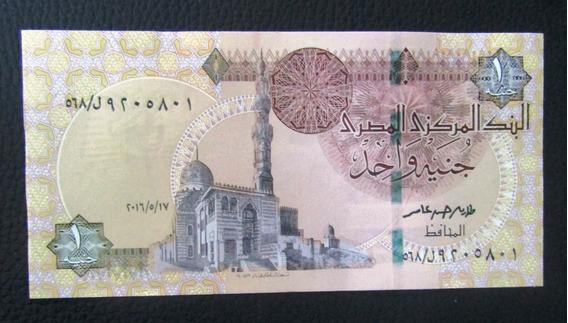 Egipto Billete 1 Pound Unc Pick 71 2016 Sin Circular