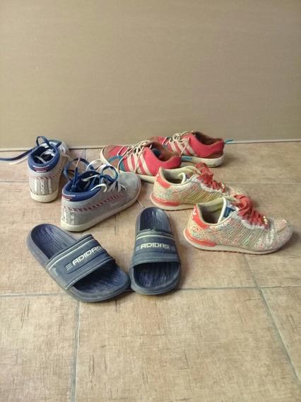 Lote Zapatilla/chinelas adidas Originales,todo Por 600