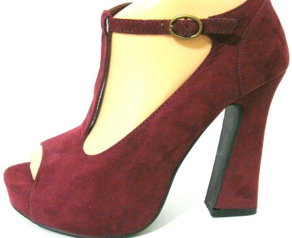 Forever21 Zapatos 37 Plataforma Gamuza Bordo Uva (ana.mar)