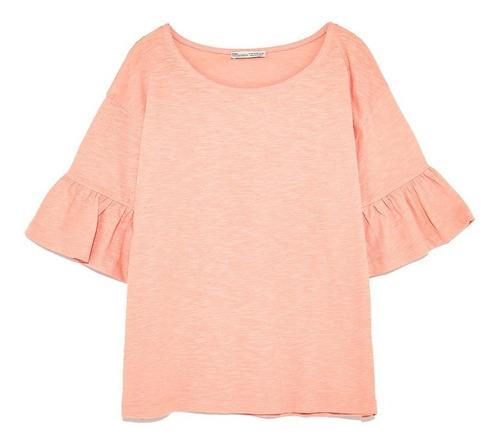 Remera Zara Rosa Nueva Con Etiquetas Importada De Usa