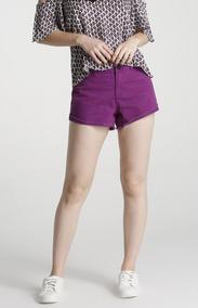 Shorts Cintura Média Em Jeans Tam 42 E 44! Novo Ref. R41