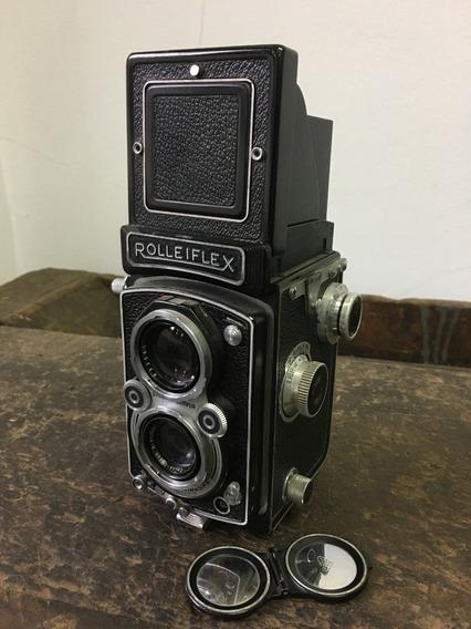 Camera Fotográfica Tlr Rolleiflex Automat 4 + Kit Rolleikin