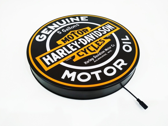 Luminoso Led Harley Davidson Placa 40cm Bar