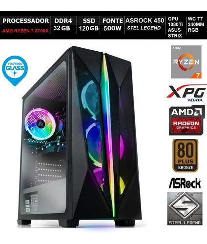 Pc Gamer Top Liketec R7 3700x 1080 Asrockb450 32gb Wc240mm