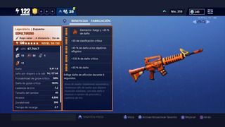 Arma Fortnite Enterradora Full Perks 4x65