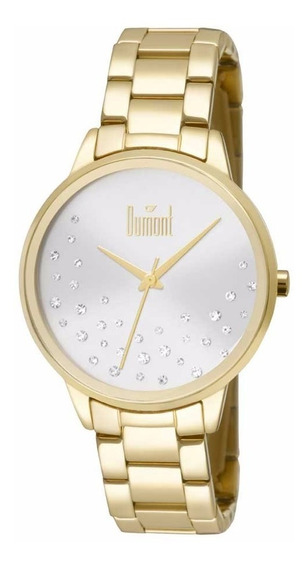Relógio Dumont Feminino Du2036lsq/4k Dourado Prata