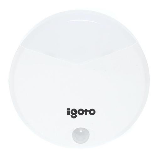 Imagen 1 de 4 de Igoto Le01 Lámpara Led Luz De Noche De Pila Con Sensor.