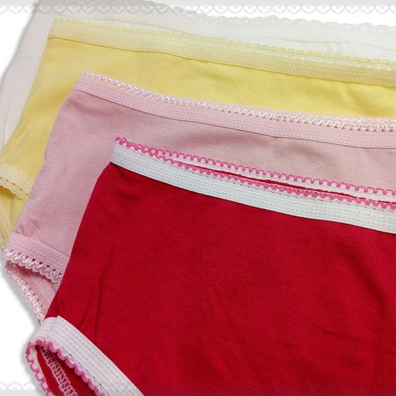 Bombacha Nena Clásica Pack X 12 Lisa Talle-10