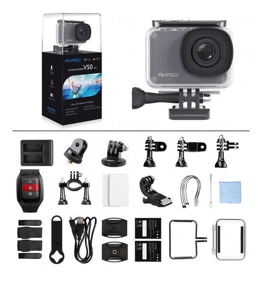 Camera De Ação Akaso V50 Pro Original 4k 30fps 20mp Wi-fi