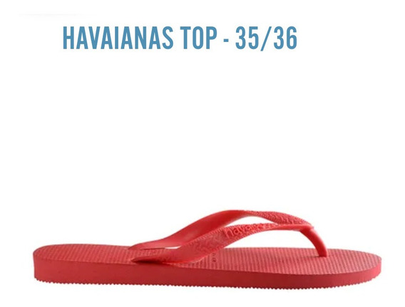 Havaianas Top Vermelho Rubi