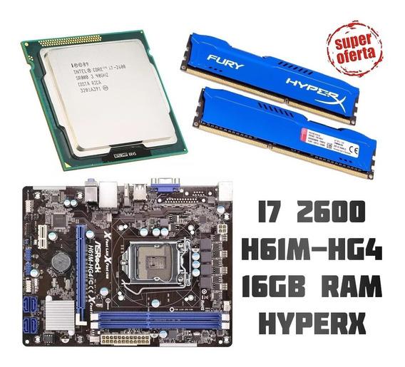 Kit Gamer - I7 2600 / Placa Mãe H61m-hg4 1155 / 16gb Ram