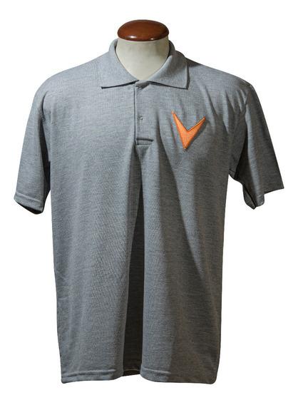Camiseta Polo Velopark Cinza